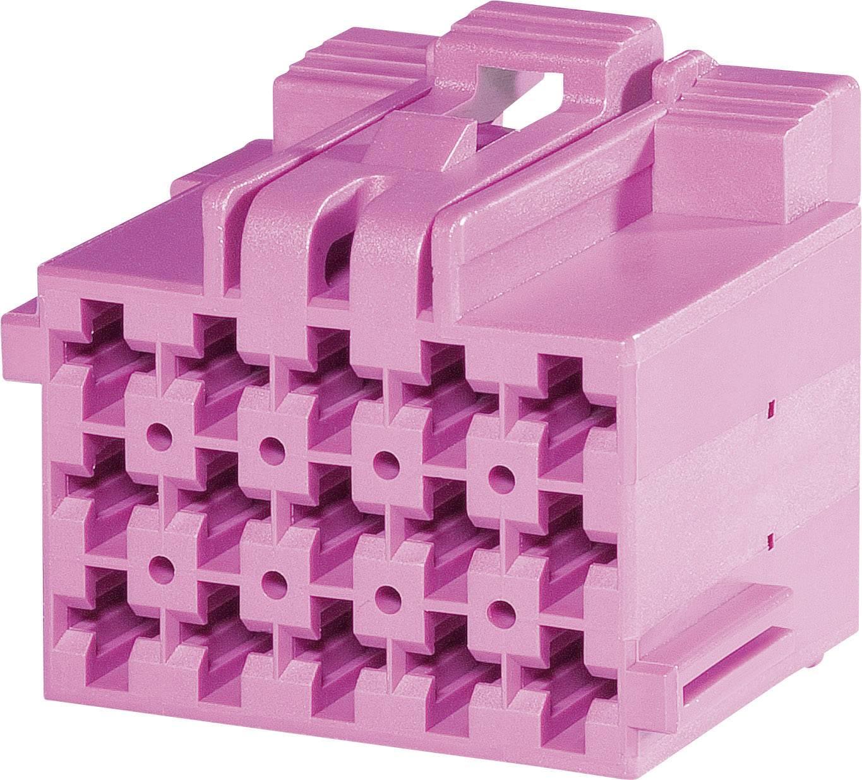 Zásuvkové púzdro na kábel TE Connectivity 1-967623-1, počet pólov 15, raster 5 mm, 1 ks