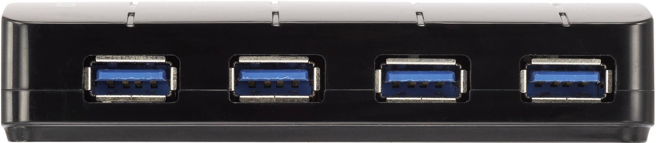 USB 3.0 hub Renkforce RF-3016752 4 porty, 105 mm, černá