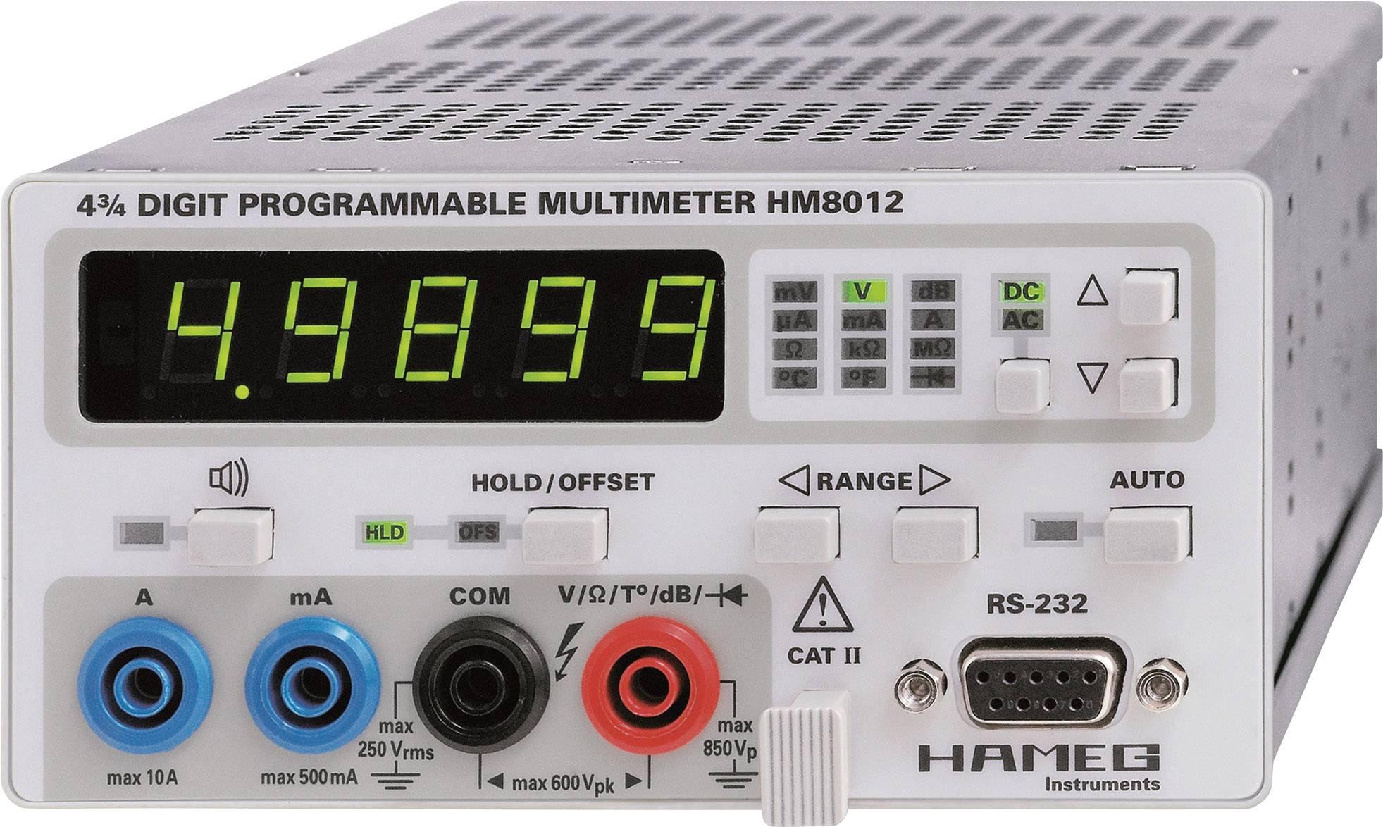 Stolní multimetr Rohde & Schwarz HM8012, CAT II, 600 V