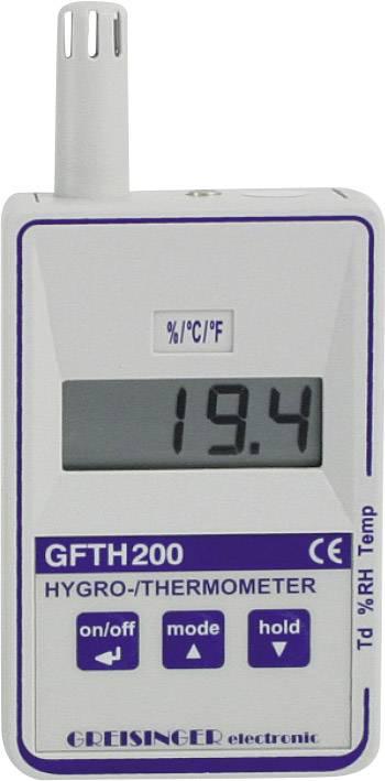 Digitální vlhkoměr a teploměr Greisinger GFTH 200, 109900, kalibrováno dle ISO