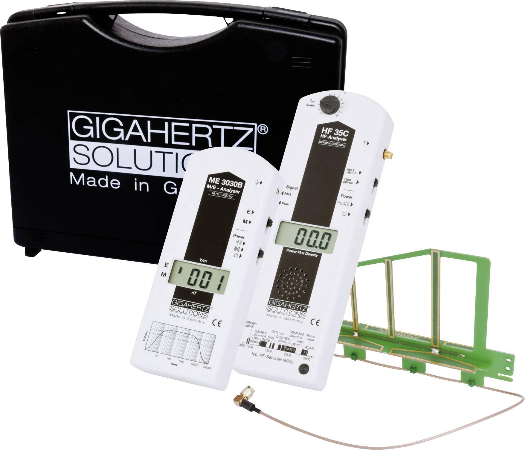 Sada pro měření elektrosmogu Gigahertz Solutions MK20, VF analyzátor HF35C, HF an. ME3830B