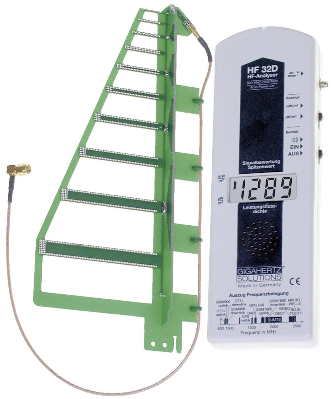Analyzátor elektrosmogu Gigahertz HF 32D