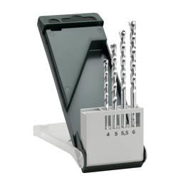 Sada špirálových vrtákov do kameňa Bosch Accessories 2609255459, 4 mm, 5 mm, 5.5 mm, 6 mm, N/A, 1 sada