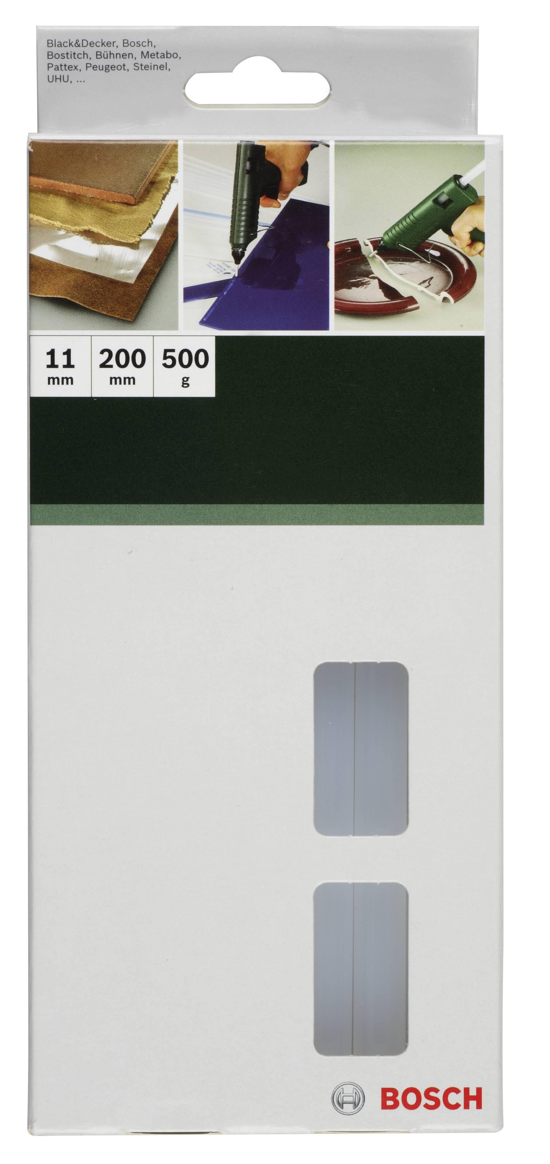 Lepicí tyčinky Bosch Accessories 2609255800, Ø 11 mm, délka 200 mm, 500 g, transparentní