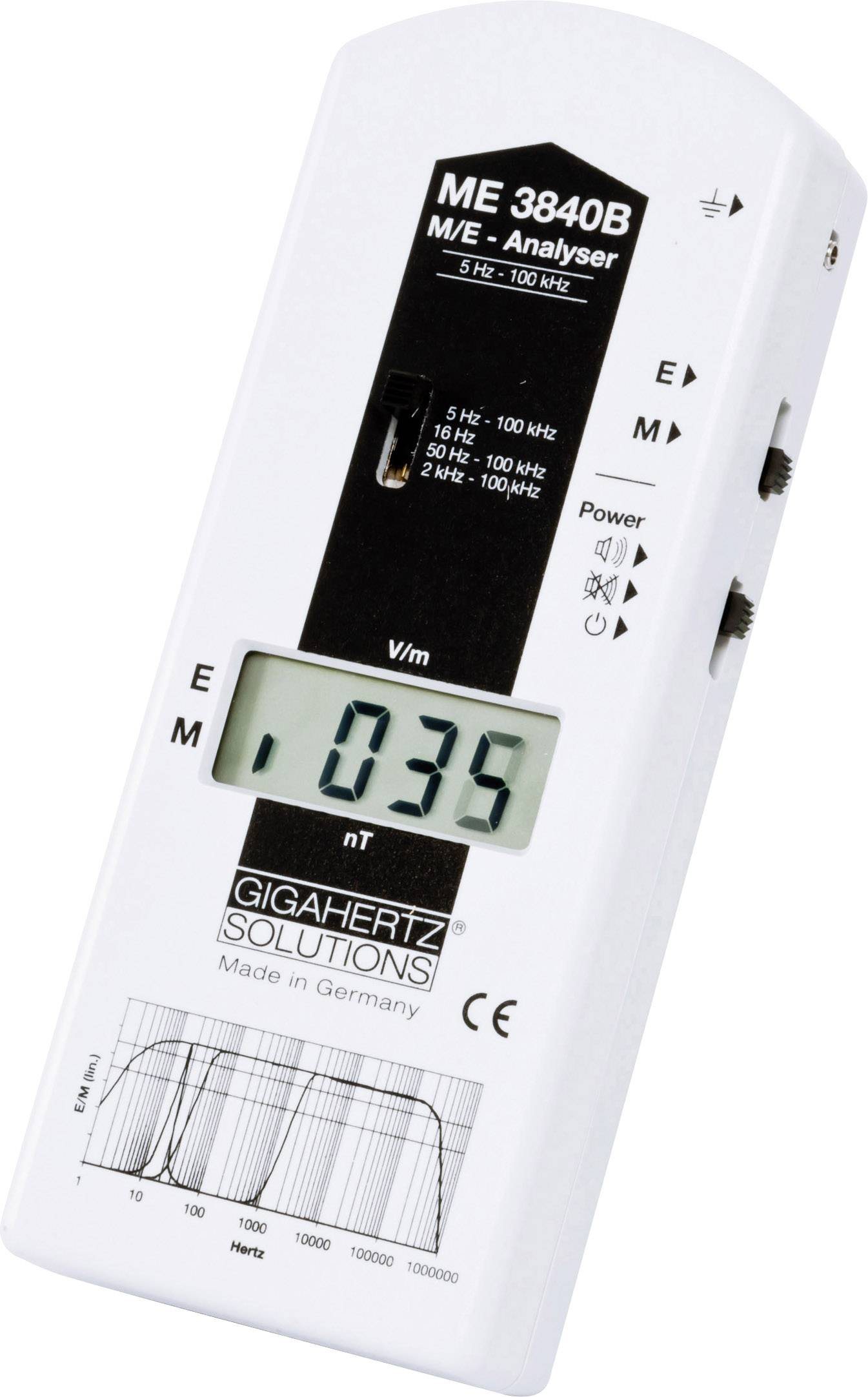 NF analyzátor elektrosmogu Gigahertz ME3840B, 5 Hz - 100 kHz