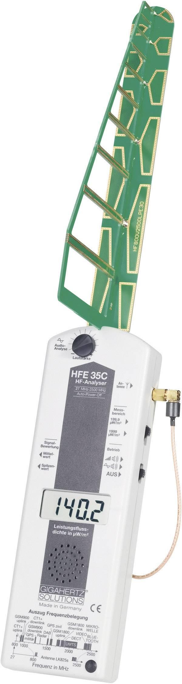 VF analyzátor elektrosmogu Gigahertz HFE 35C, 27 MHz - 3,3 GHz