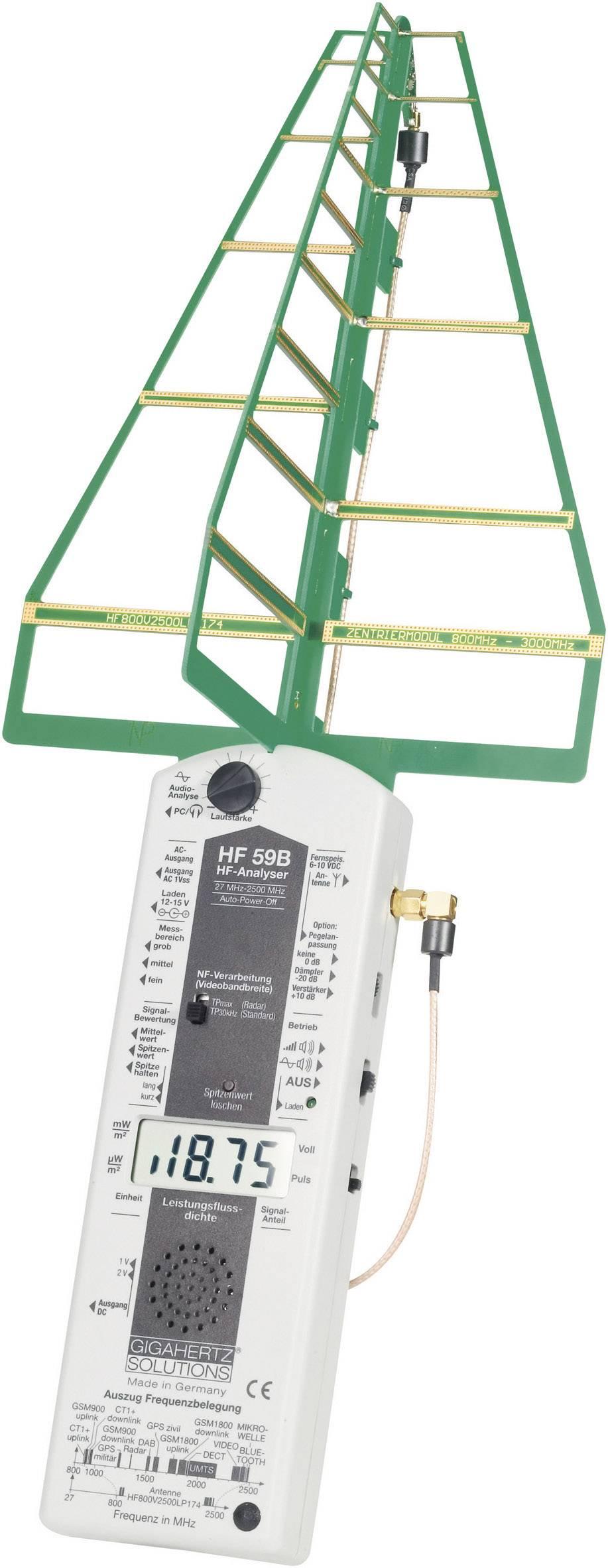 VF analyzátor elektrosmogu Gigahertz HFE 59B, 27 MHz - 3,3 GHz