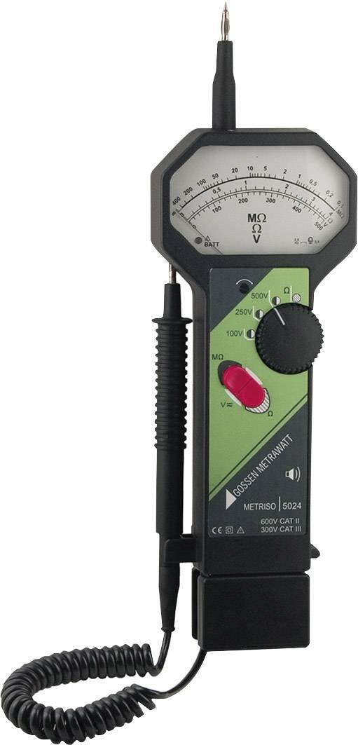 Měřič izolačního napětí Gossen Metrawatt Metriso 5024, 0 - 400 MΩ, CAT II 600 V