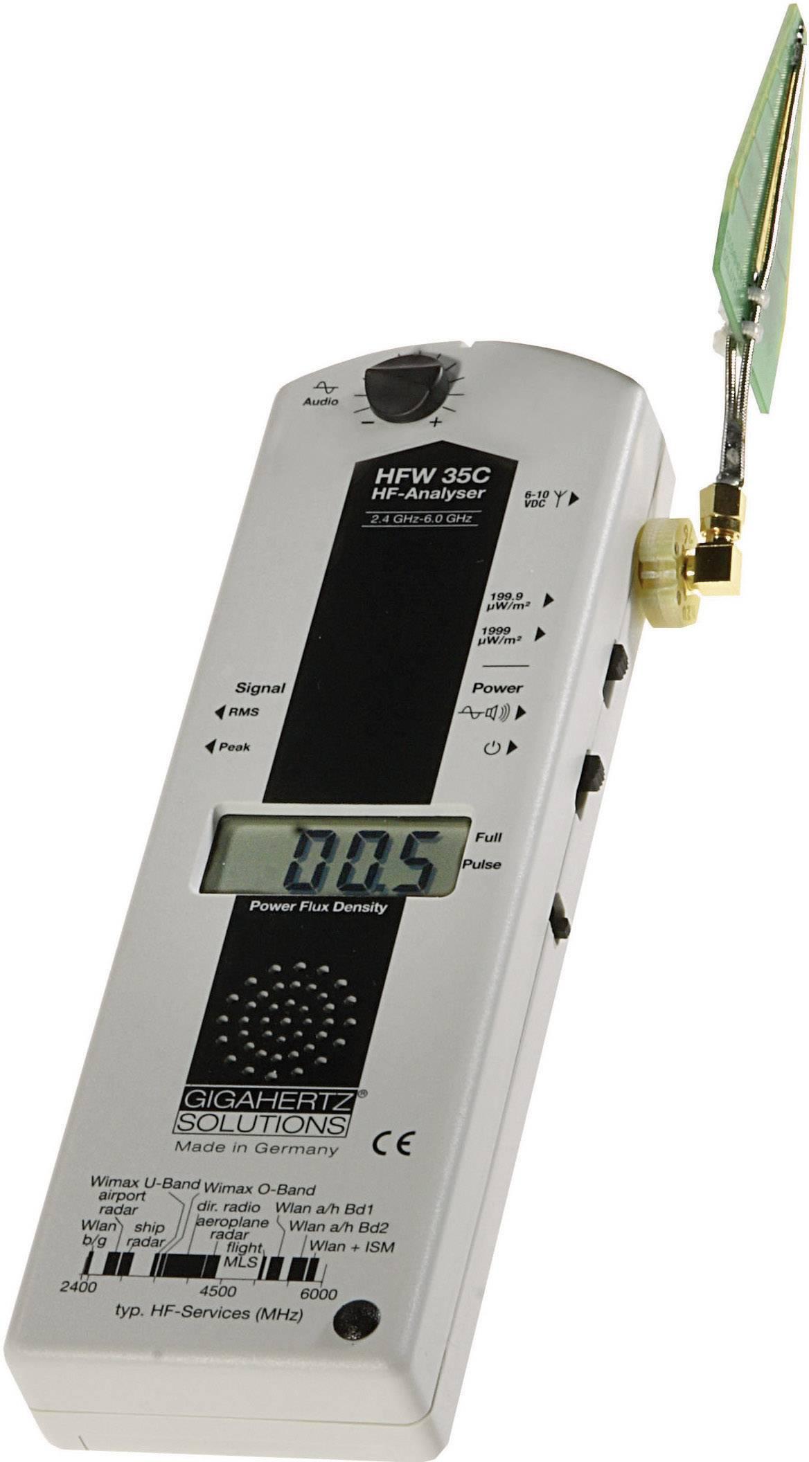 Digitálny analyzátor elektrosmogu Gigaherz HFW35C pre pásmo WLAN, WiMAX