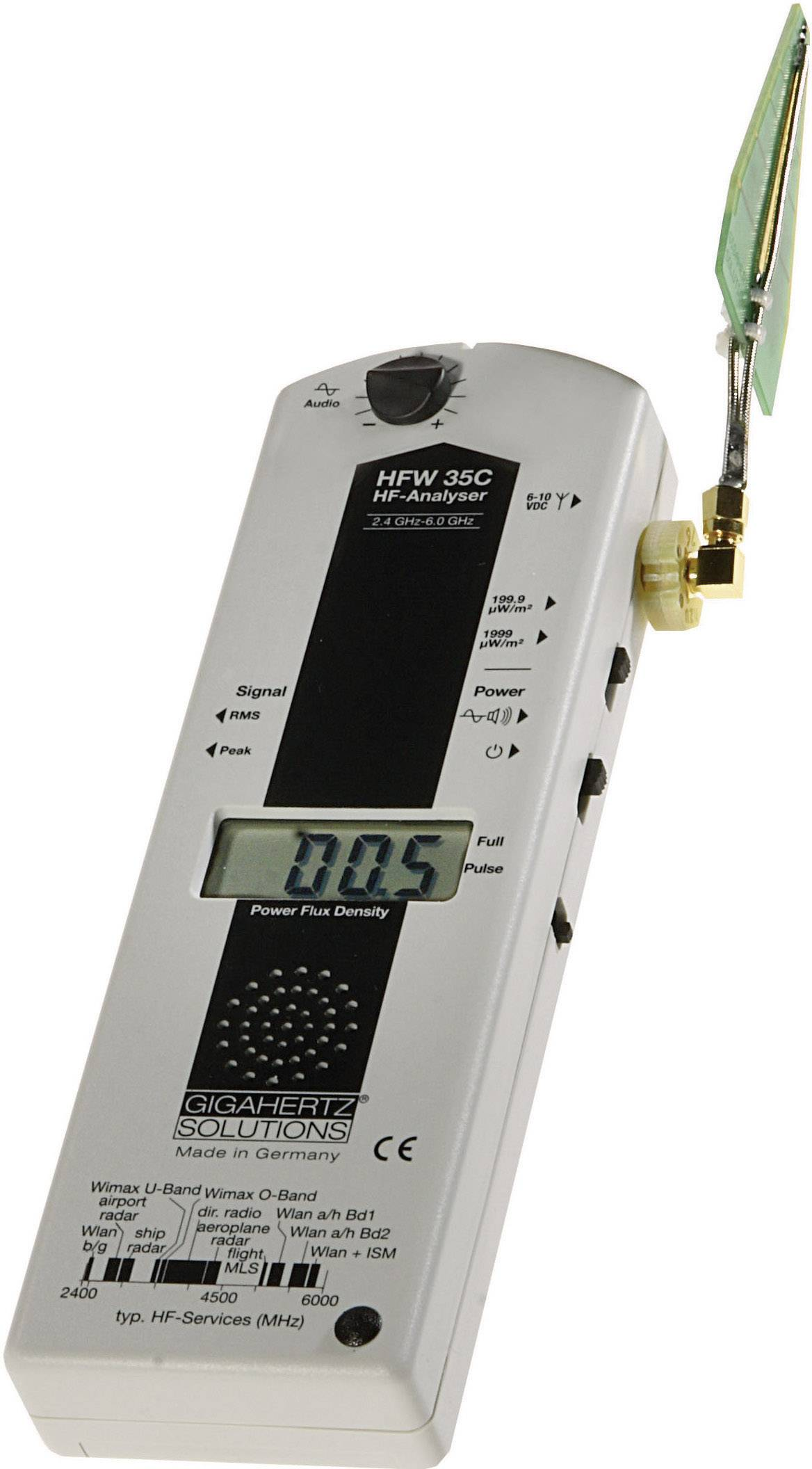 VF analyzátor Gigahertz Solutions HFW 35C pro měření elektrosmogu, 2,4 - 6 GHz