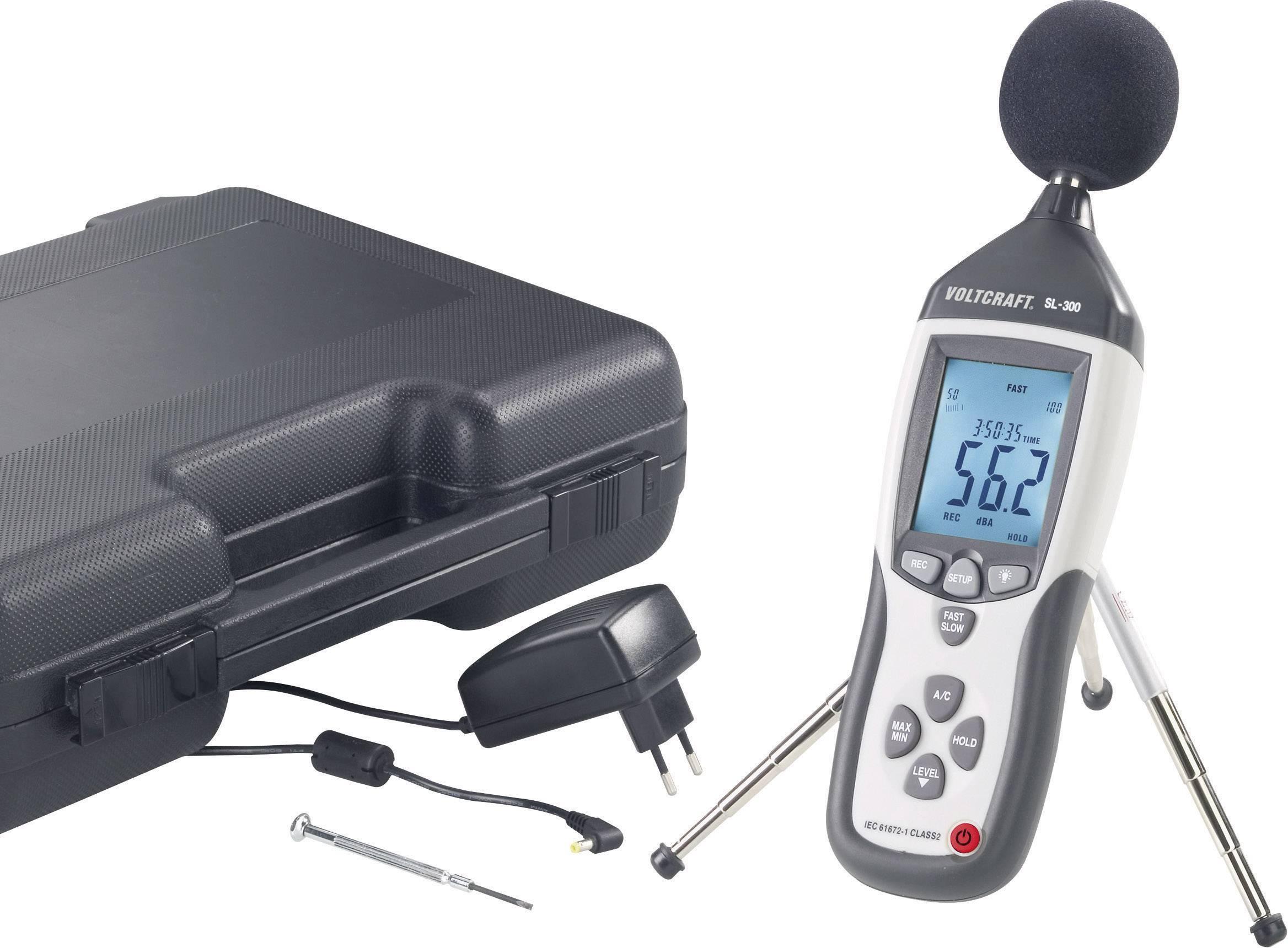 Digitální hlukoměr s dataloggerem Voltcraft SL-451, 31,5 Hz - 8 kHz