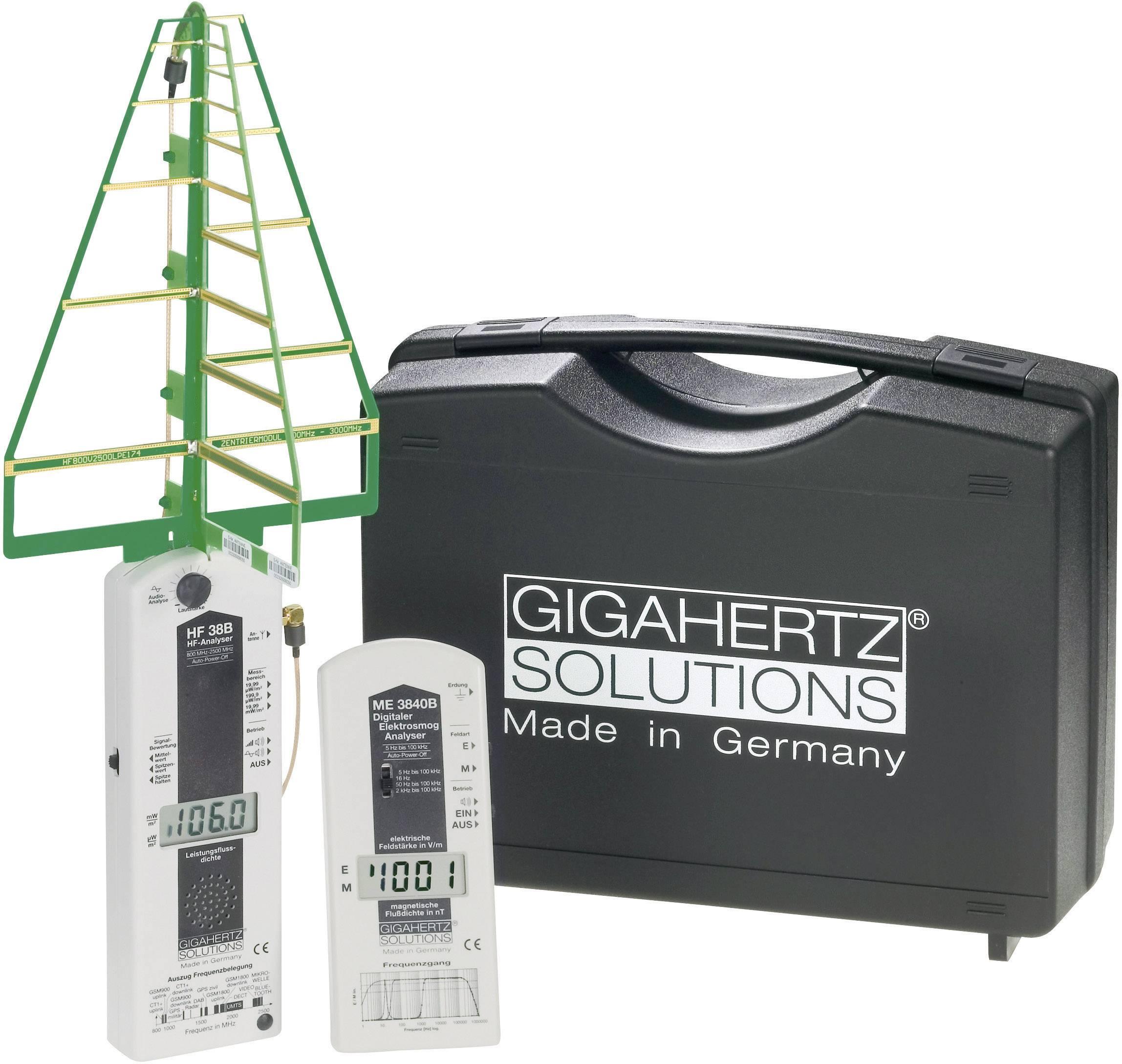 Sada přístrojů pro měření elektrosmogu Gigahertz Solutions MK30