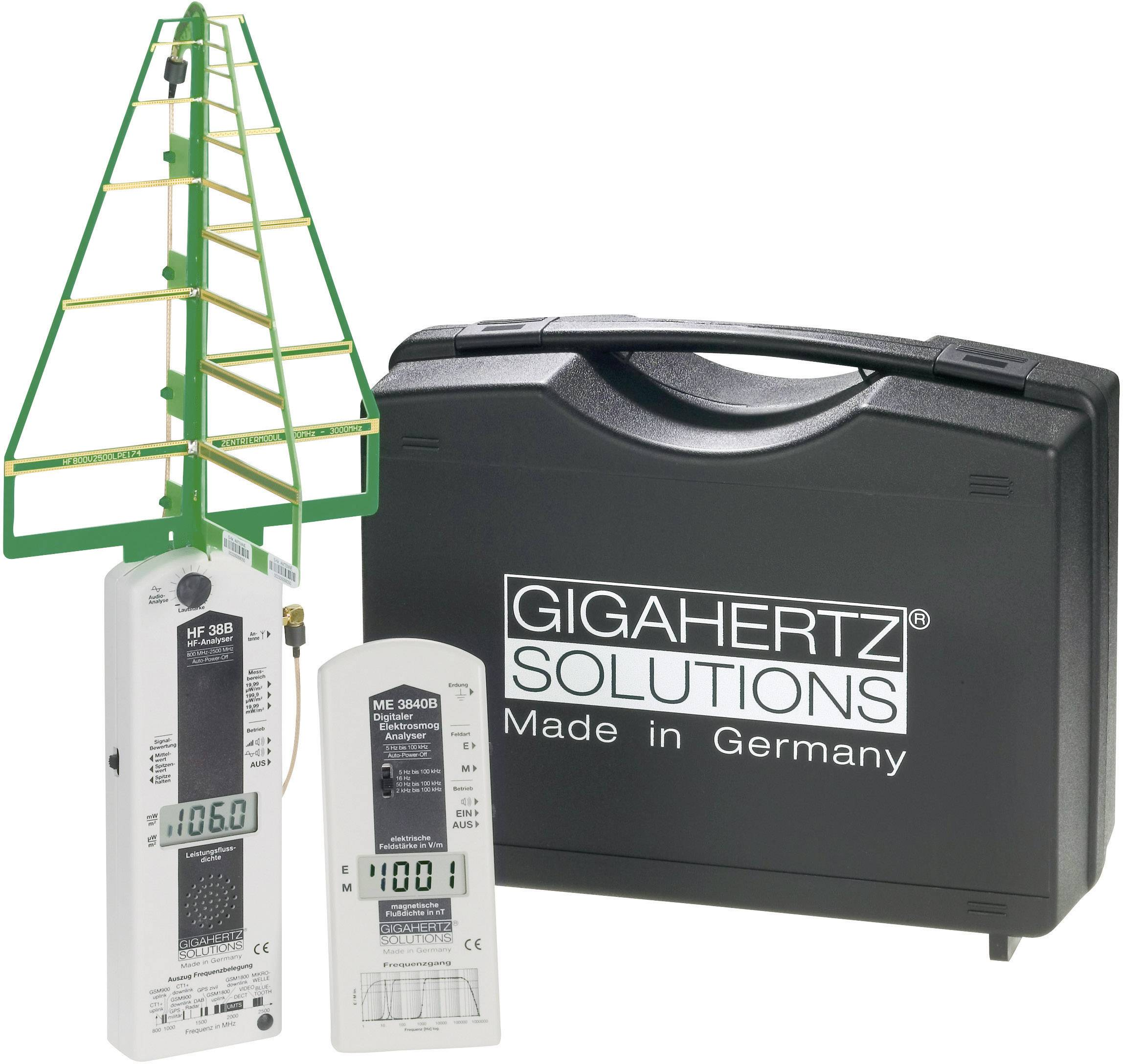 Sada zariadenií na meranie elektrosmogu Gigahertz Solutions MK30