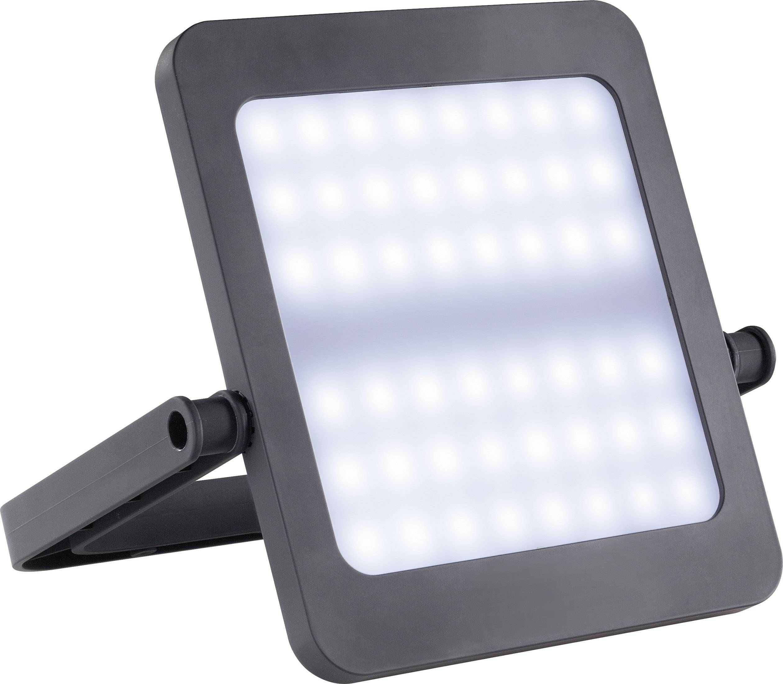 LED campingové osvetlenie Renkforce SunPad čierna