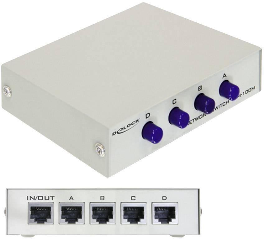 Síťový switch Delock, 87588, 4 porty, 100 Mbit/s