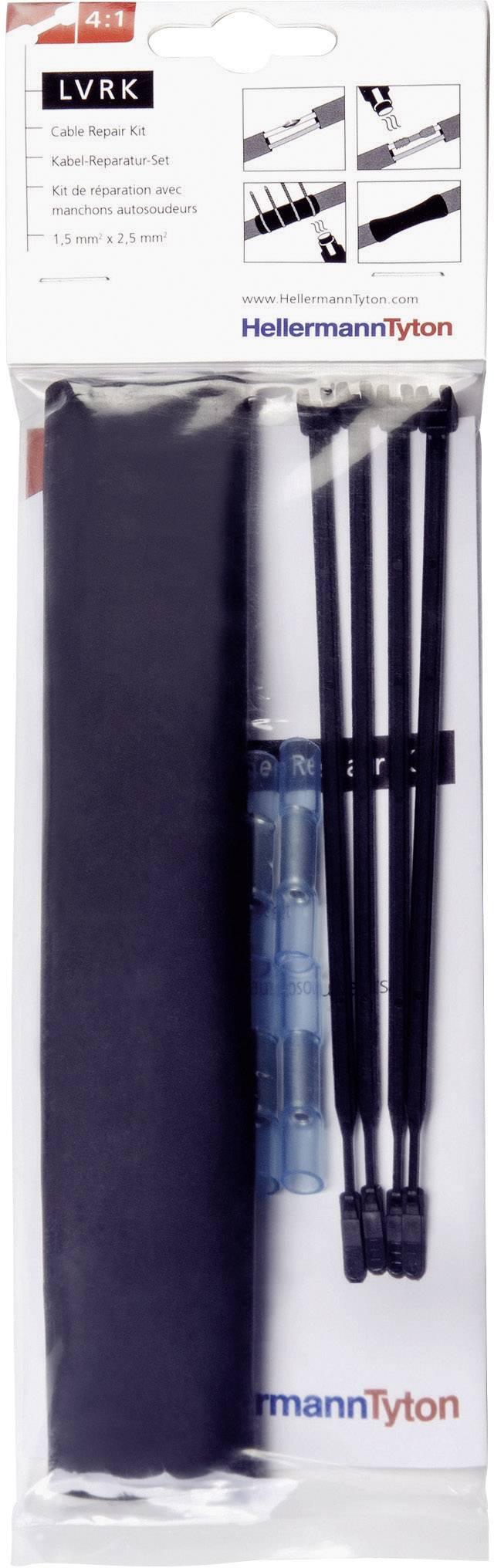 Sada smršťovacích opravných kabelů HellermannTyton LVRK-24/6-200-POX-BK (380-04004), 1 sada