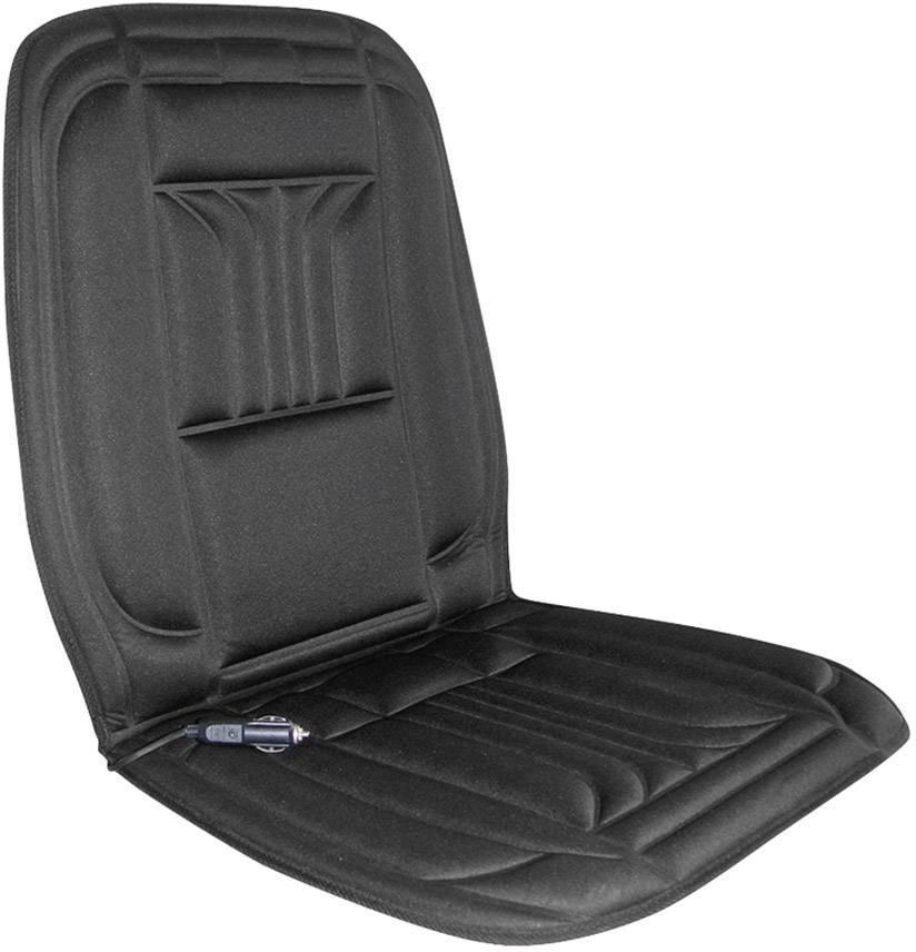 Vyhrievaný poťah na sedadlo APA Heiz-Sitzauflage 12 V 28079, 12 V, čierna
