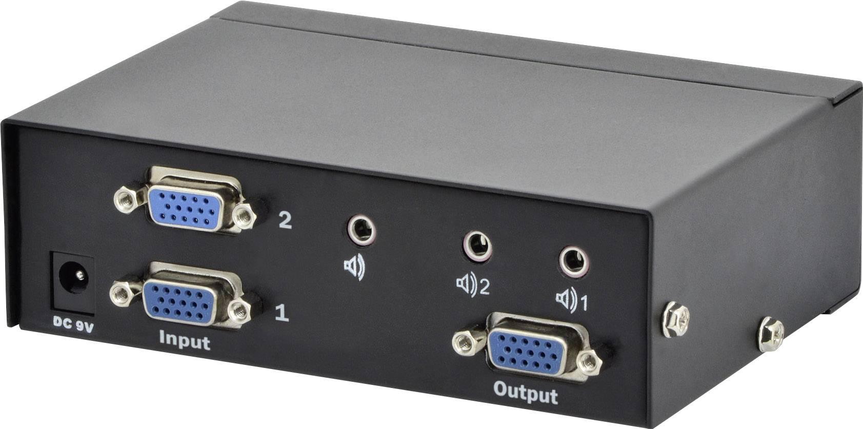 VGA přepínač Digitus Professional DS-44100-1 DS-44100-1, 2 porty