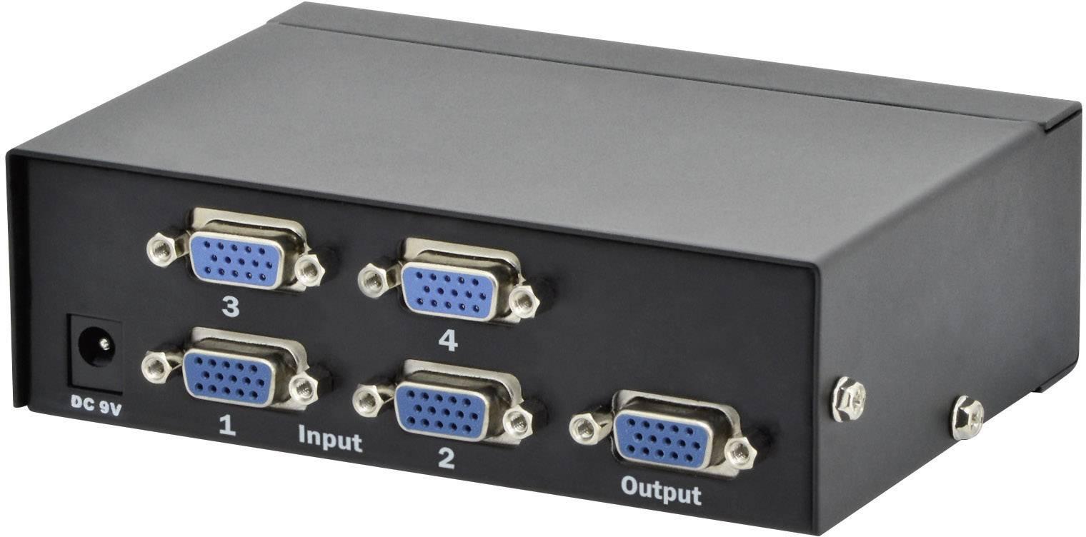VGA přepínač Digitus Professional DS-45100-1 DS-45100-1, 4 porty