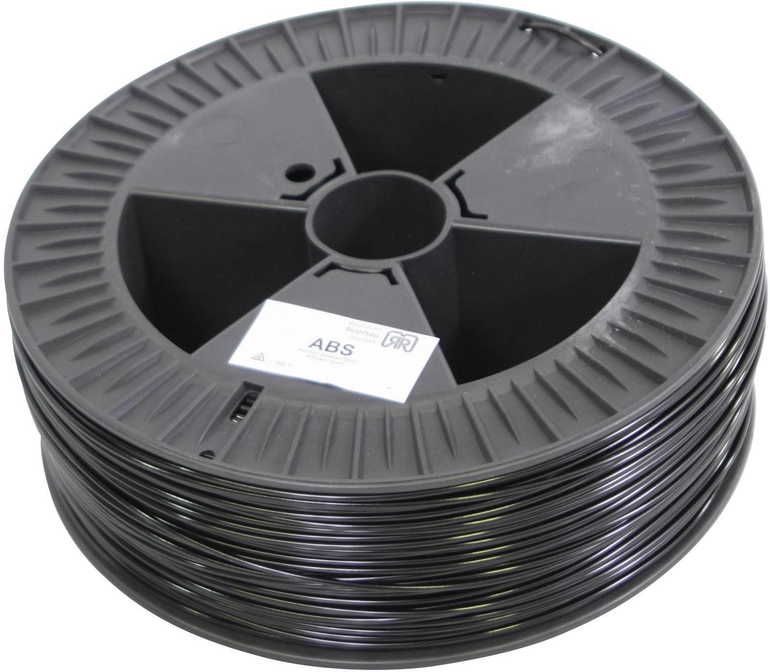 Vlákno pre 3Dtlačiarne, German RepRap 100107, ABS plast , 3 mm, 2.1 kg, čierna