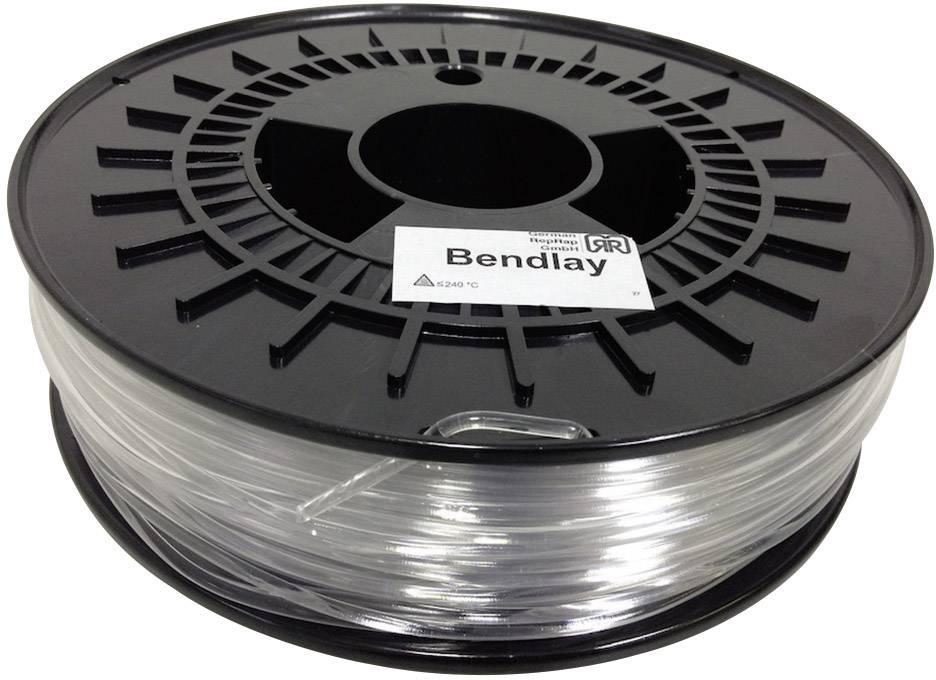 Vlákno pre 3Dtlačiarne, German RepRap 100262, Bendlay plast , 3 mm, 750 g, prírodná