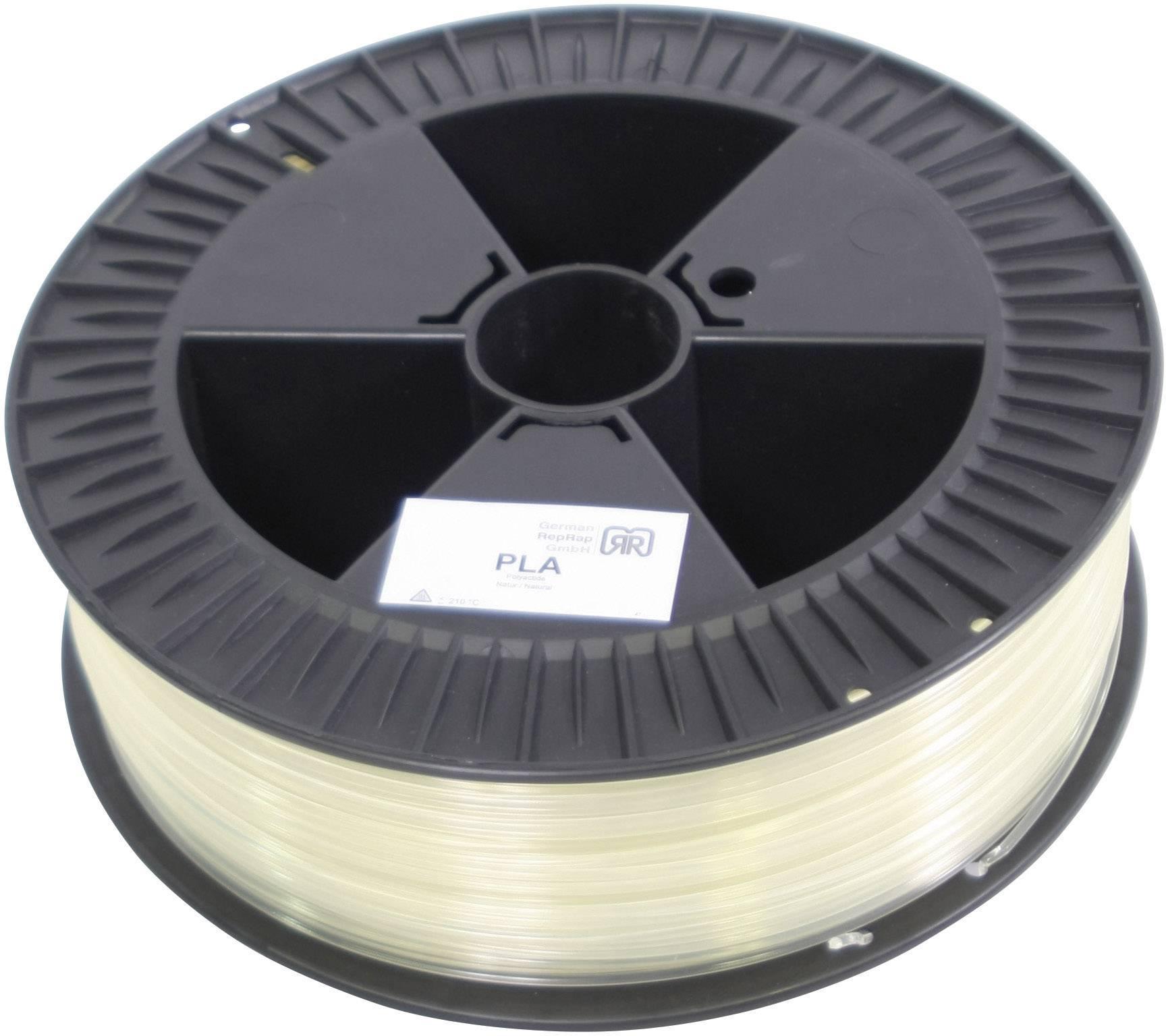 Vlákno pre 3Dtlačiarne, German RepRap 100275, PLA plast , 3 mm, 2.1 kg, priehľadná