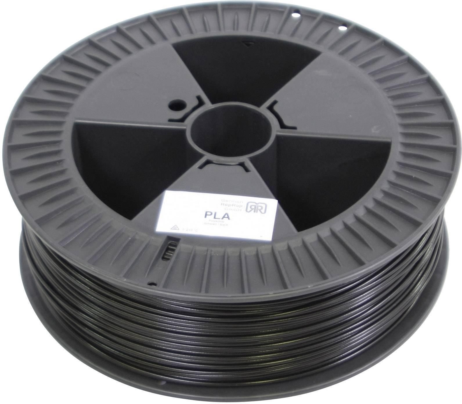 Náplň pro 3D tiskárnu, German RepRap 100191, PLA, 3 mm, 2,1 kg, černá