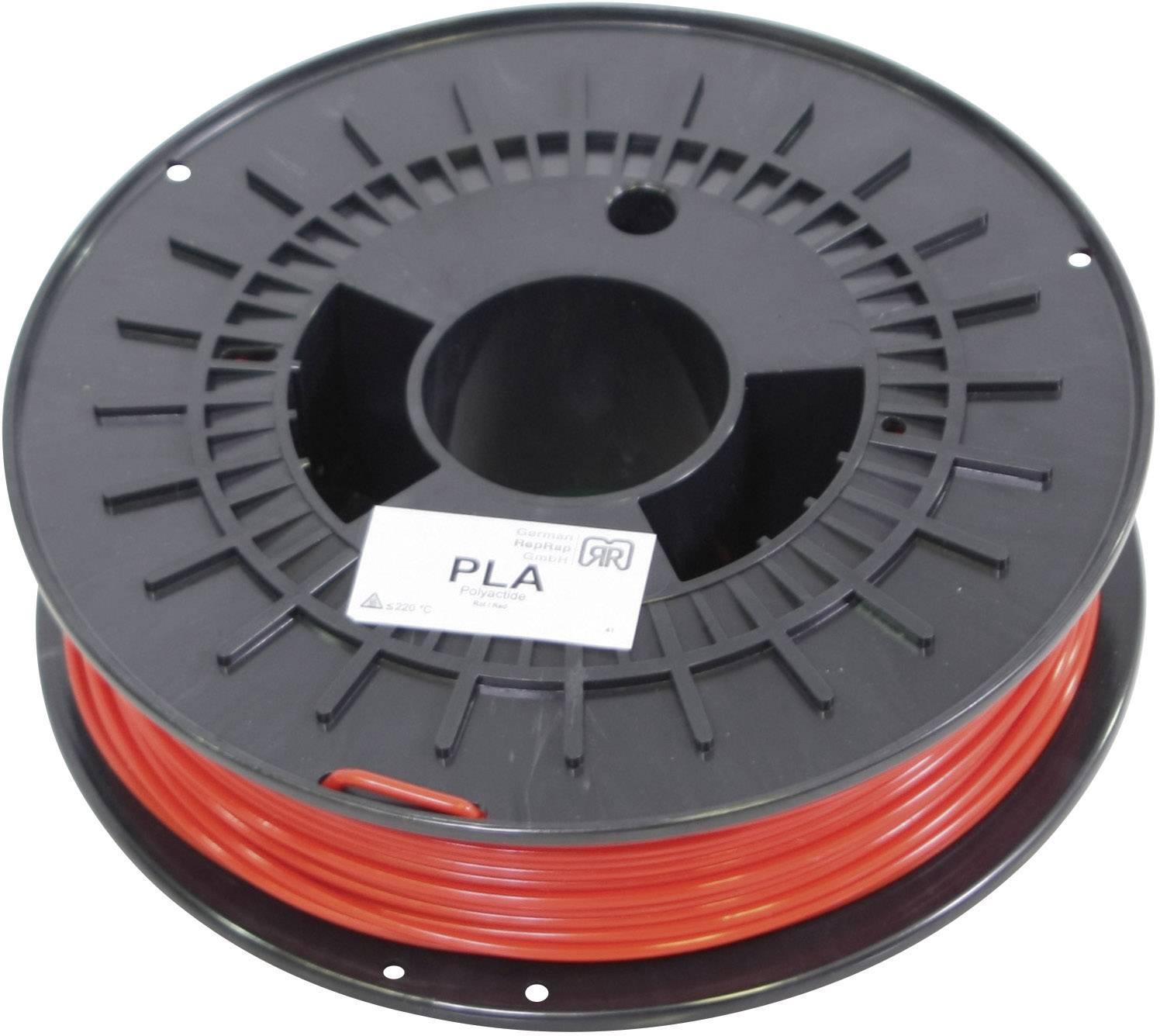 Vlákno pre 3Dtlačiarne, German RepRap 100018, PLA plast , 3 mm, 750 g, červená
