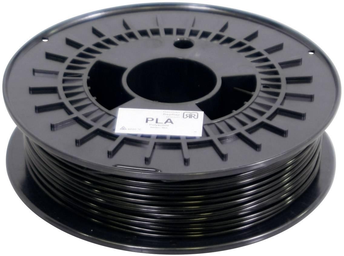 Vlákno pre 3Dtlačiarne, German RepRap 100009, PLA plast , 3 mm, 750 g, čierna