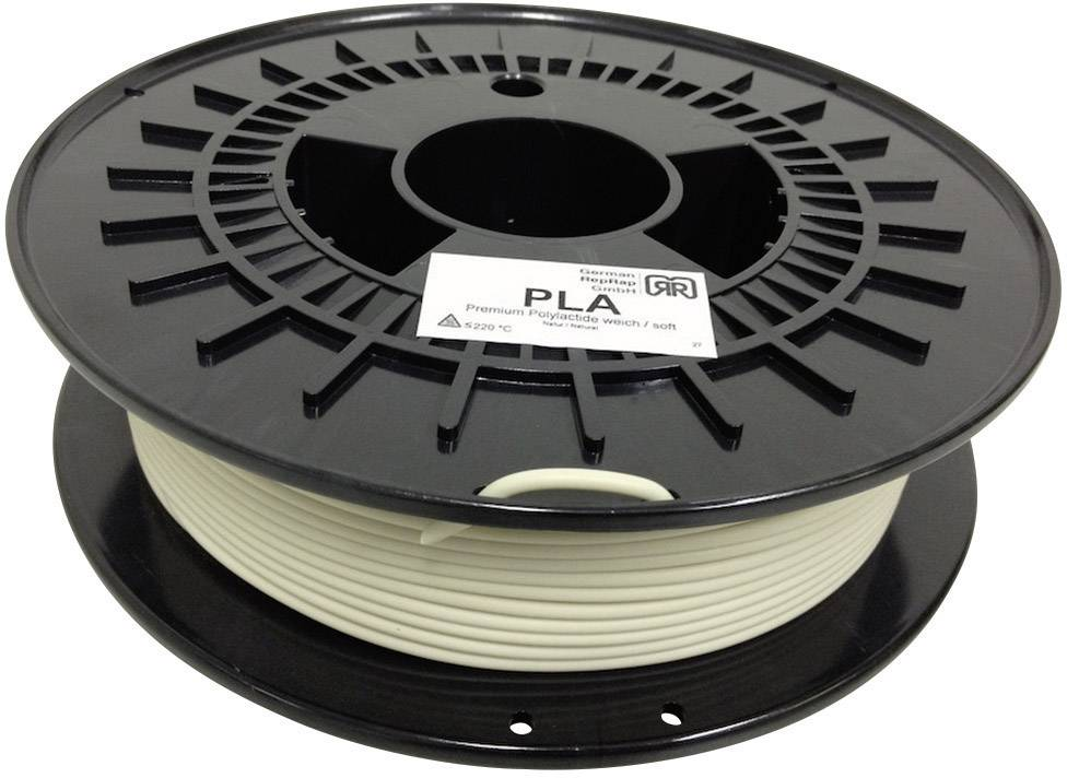 Náplň pro 3D tiskárnu, German RepRap 100260, PLA, měkké provedení 3 mm, 750 g, přírodní