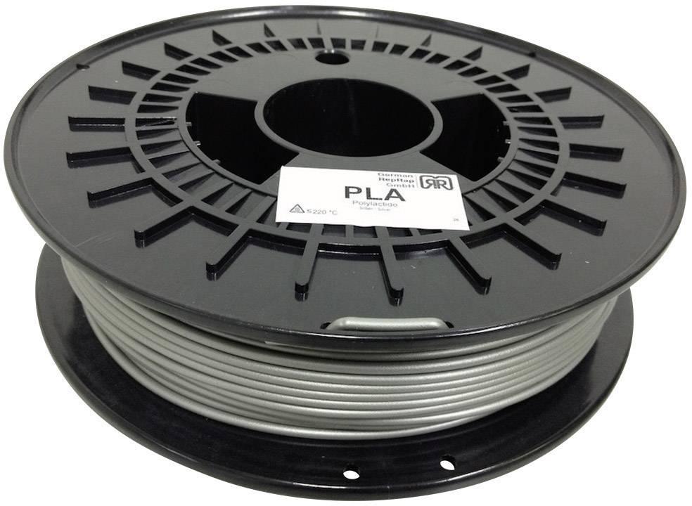Vlákno pre 3Dtlačiarne, German RepRap 100254, PLA plast , 3 mm, 750 g, strieborná