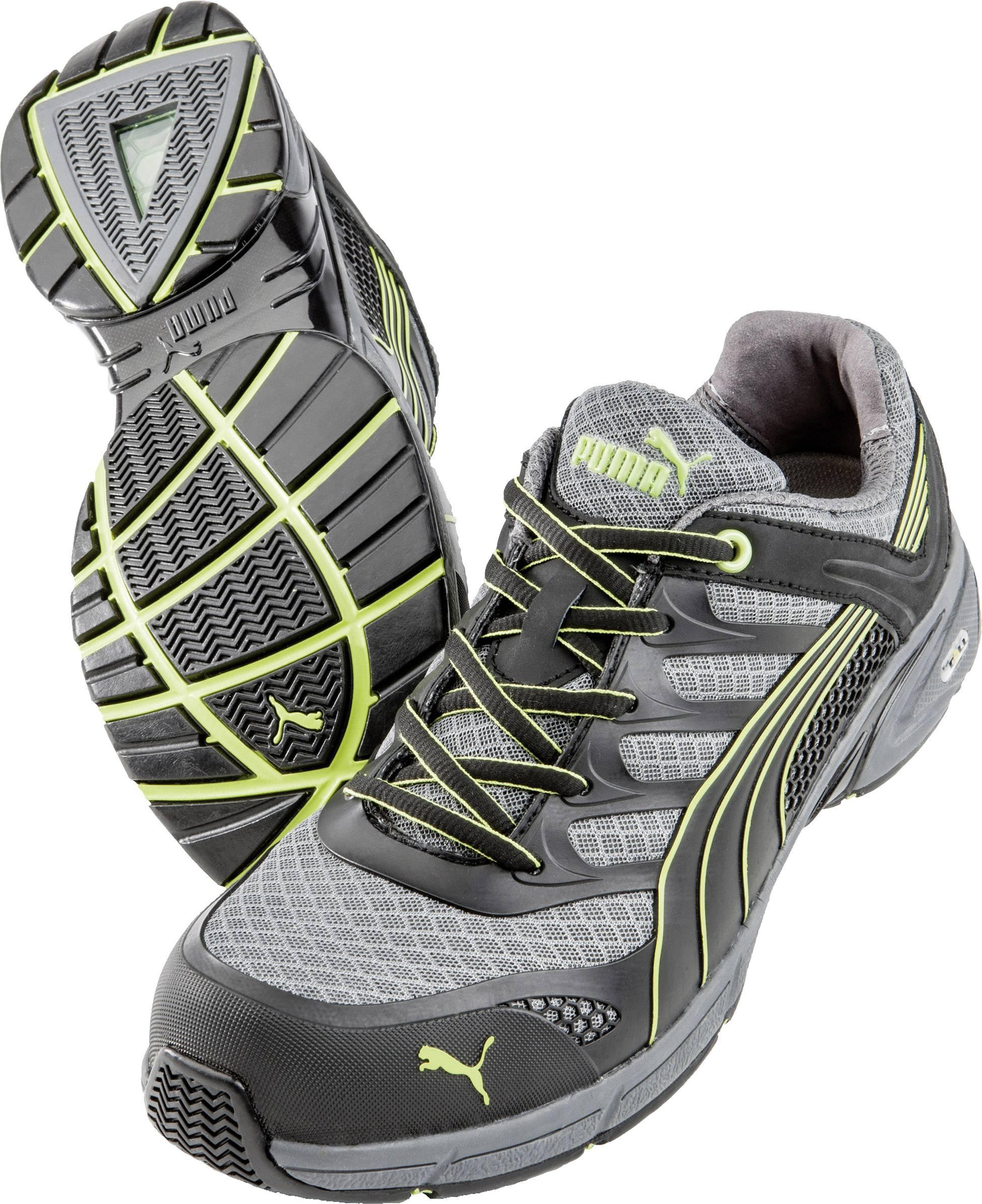 Bezpečnostní obuv S1P PUMA Safety FUSE MOTION GREEN LOW HRO SRA 642520, vel.: 43, černá, šedá, žlutá, 1 pár