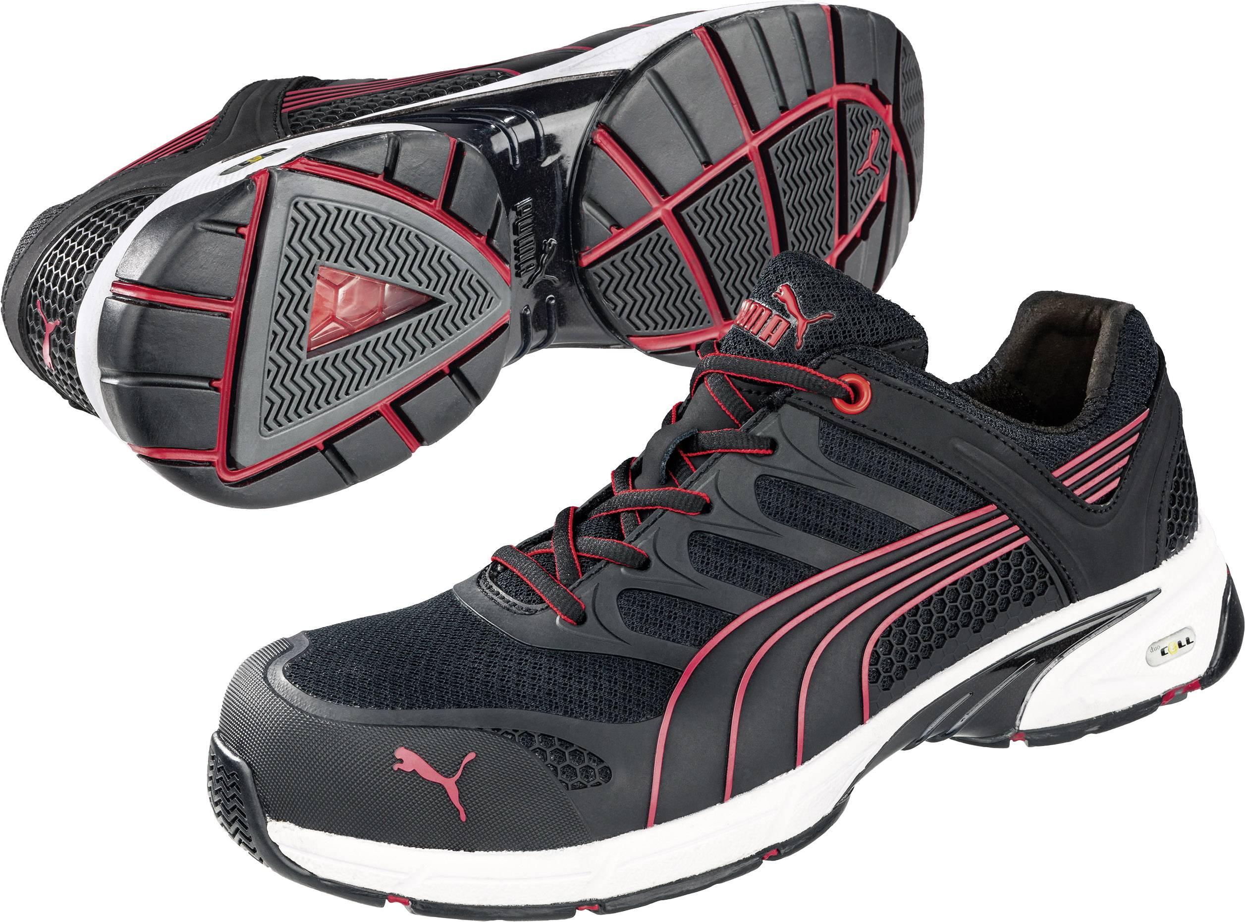Bezpečnostní obuv S1P PUMA Safety FUSE MOTION RED LOW HRO SRA 642540, vel.: 43, černá, červená, 1 pár