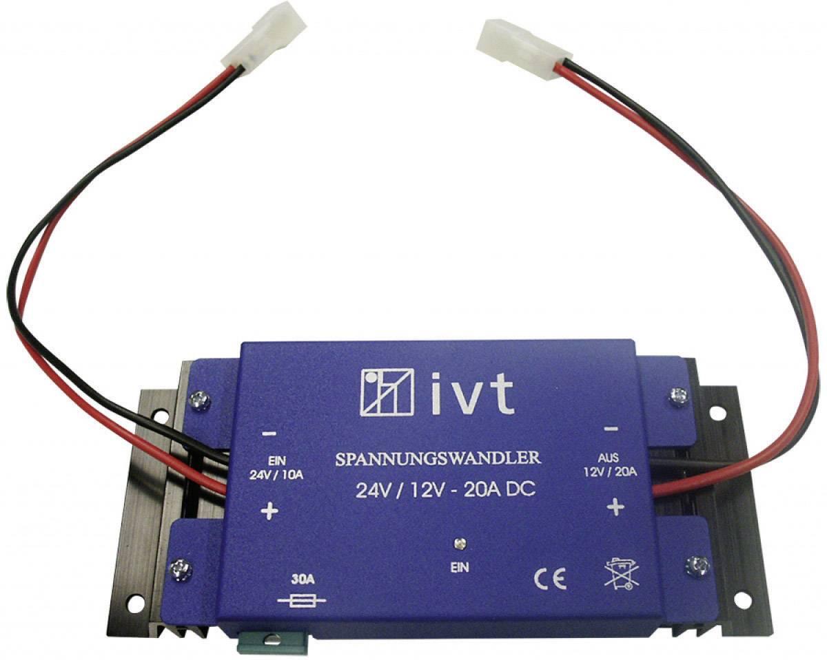Stejnosměrný měnič napětí IVT 18162, 24V / 12V / 20 A