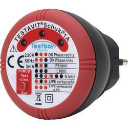 Tester zásuvek Testboy Schuki® 1A 230 V/AC Doutnavky