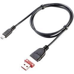 Magnet. USB 2.0 konektor mini-B Rosenberger 267355, zástrčka rovná, 80 cm, černý/červený