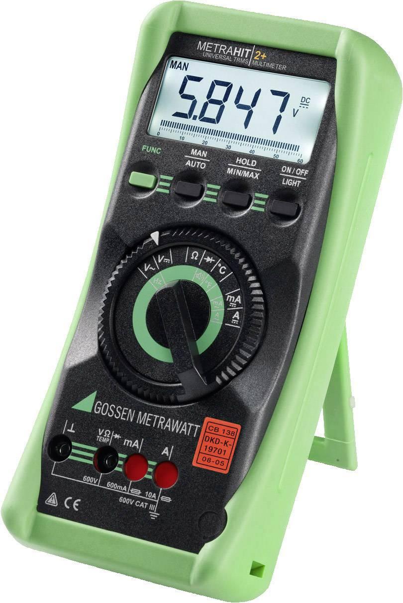 Digitálne/y ručný multimeter Gossen Metrawatt METRAHIT 2+ M205A, kalibrácia podľa DAkkS