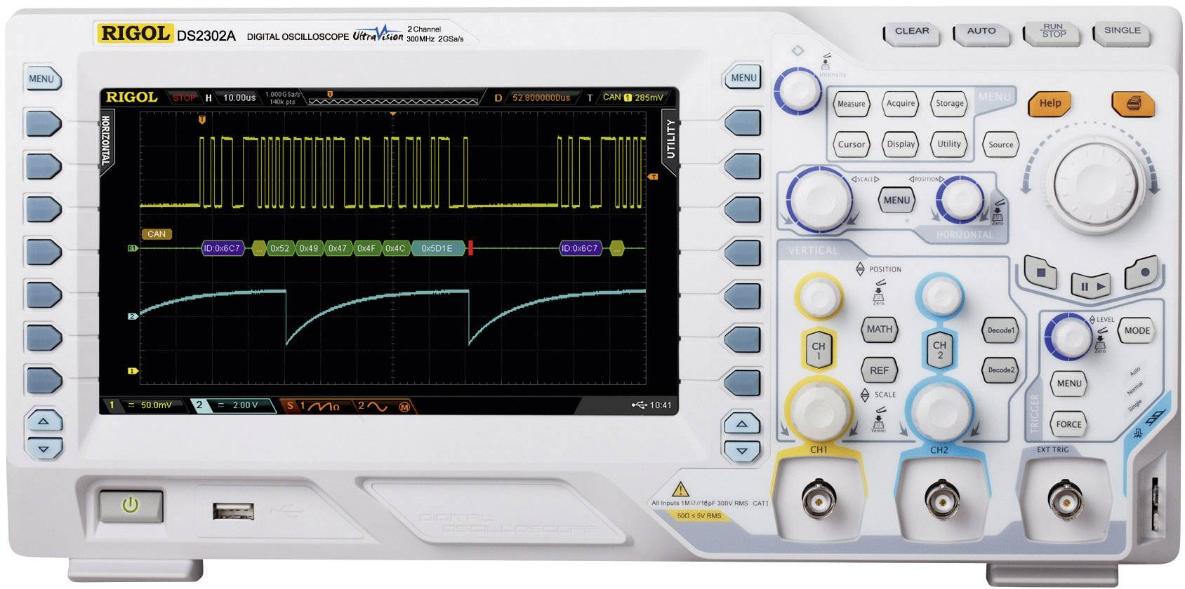 Digitální osciloskop Rigol DS2072A-S, 70 MHz, 2kanálový