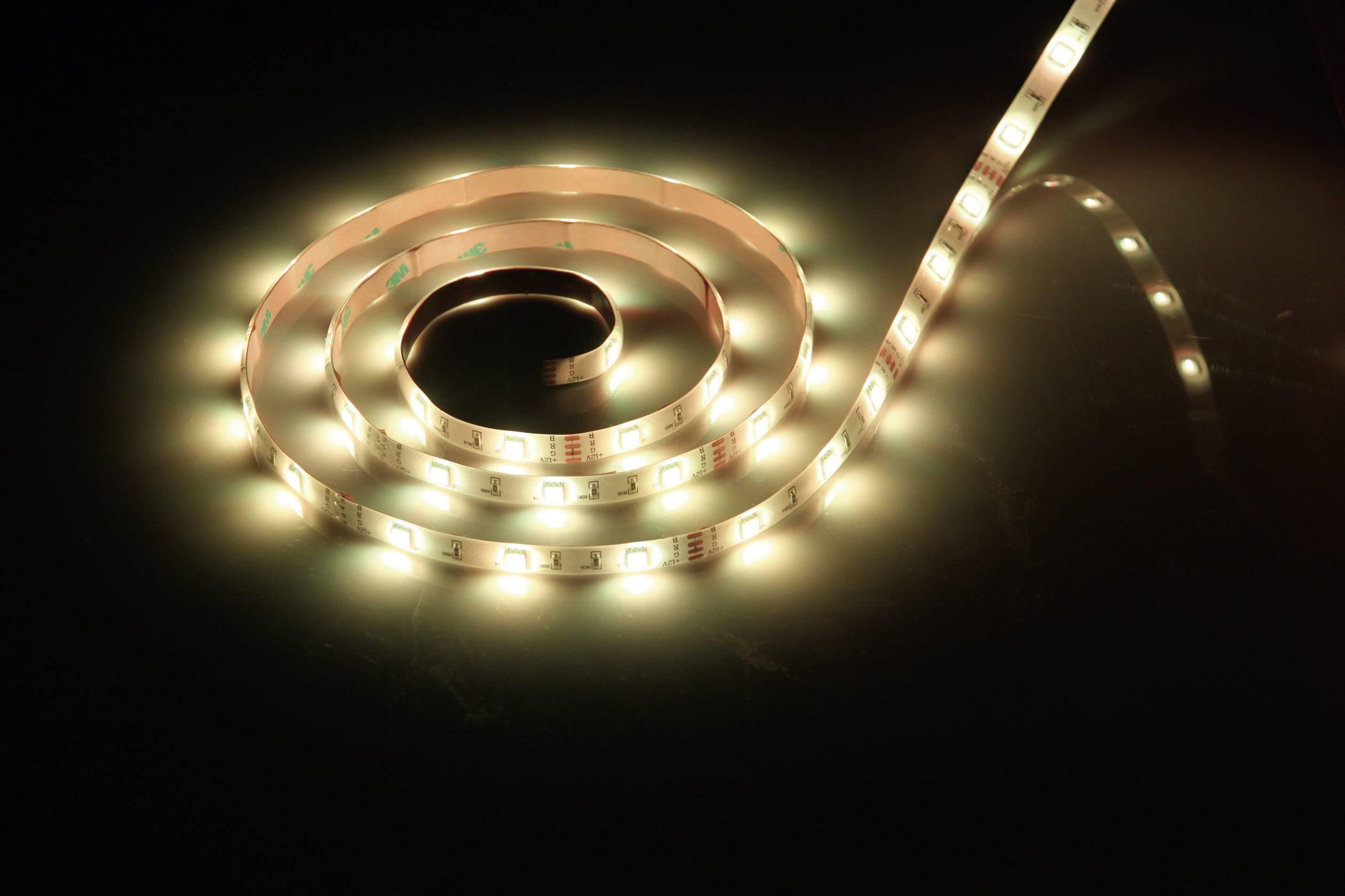 Kompletná sada LED pásikov 168050 168050, 12 V, 22 W, teplá biela, 5 m
