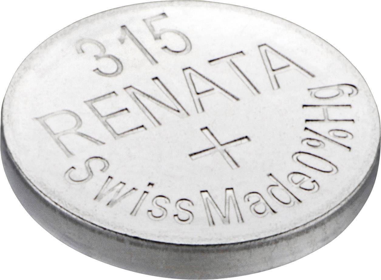 Gombíková batéria 315 Renata, SR67, na báze oxidu striebra