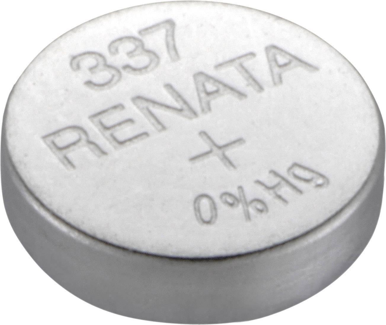 Gombíková batéria 337 Renata, SR416, na báze oxidu striebra
