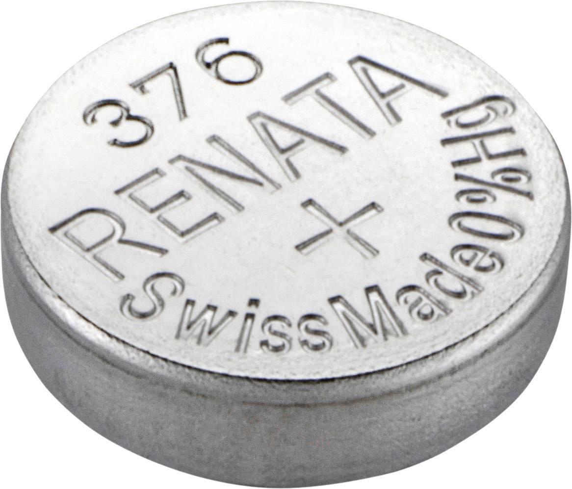 Knoflíková baterie 376 Renata, SR66, na bázi oxidu stříbra