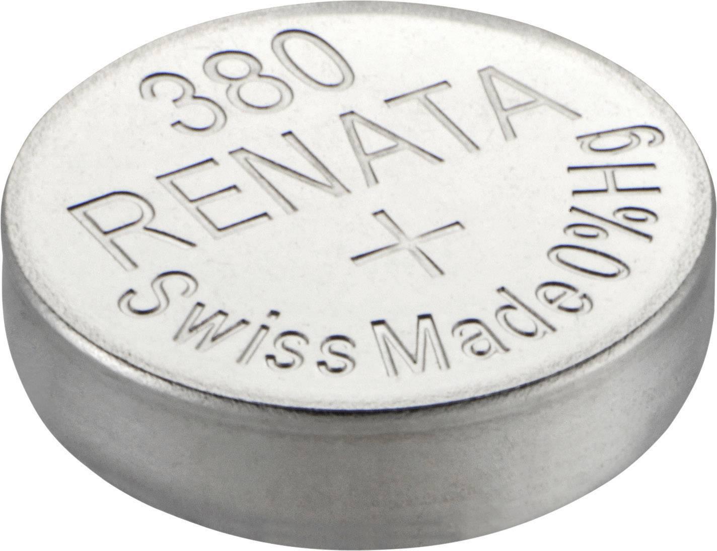 Gombíková batéria 380 Renata, SR936, na báze oxidu striebra