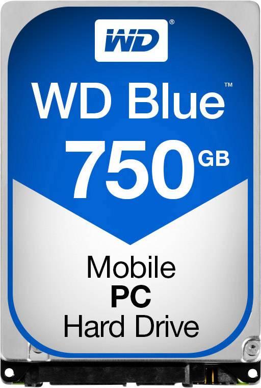 """Interní pevný disk 6,35 cm (2,5"""") Western Digital Blue™ Mobile WD7500BPVX, 750 GB, Bulk, SATA III"""