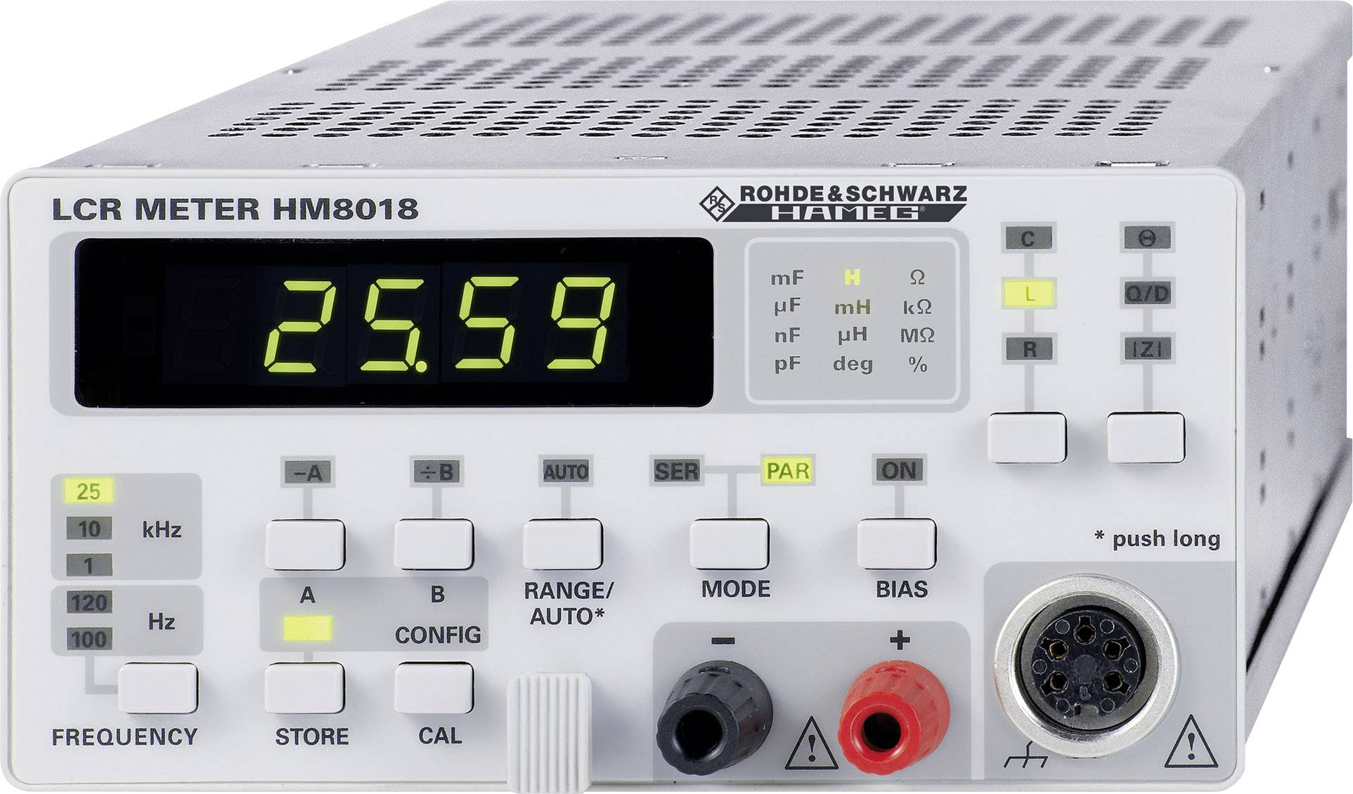 Digitálne/y skúšačka elektronických komponentov Rohde & Schwarz HM8018 3593.0774K02