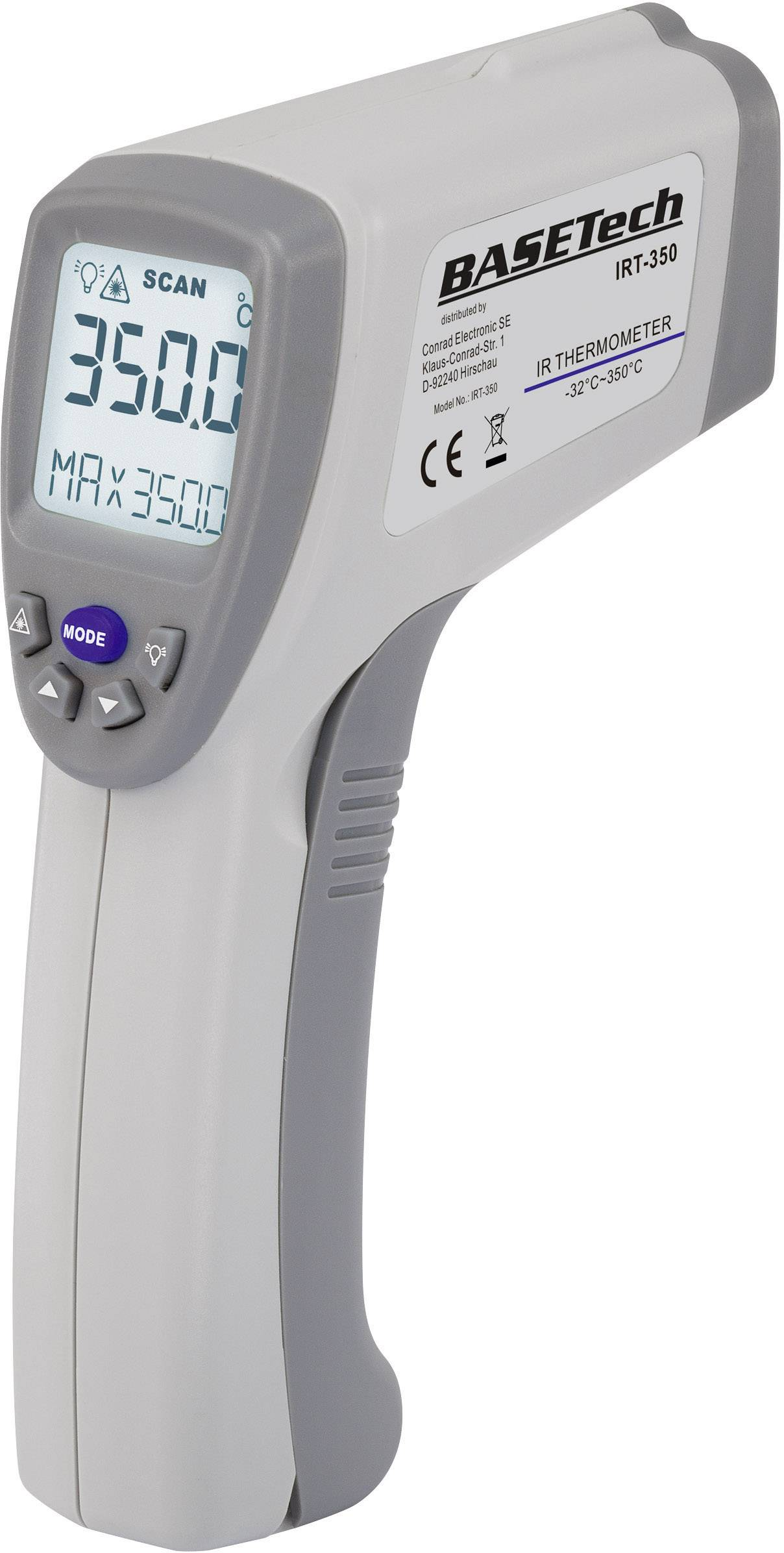 Infračervený teploměr Basetech IRT-350, 10:1, -32 až 350 °C