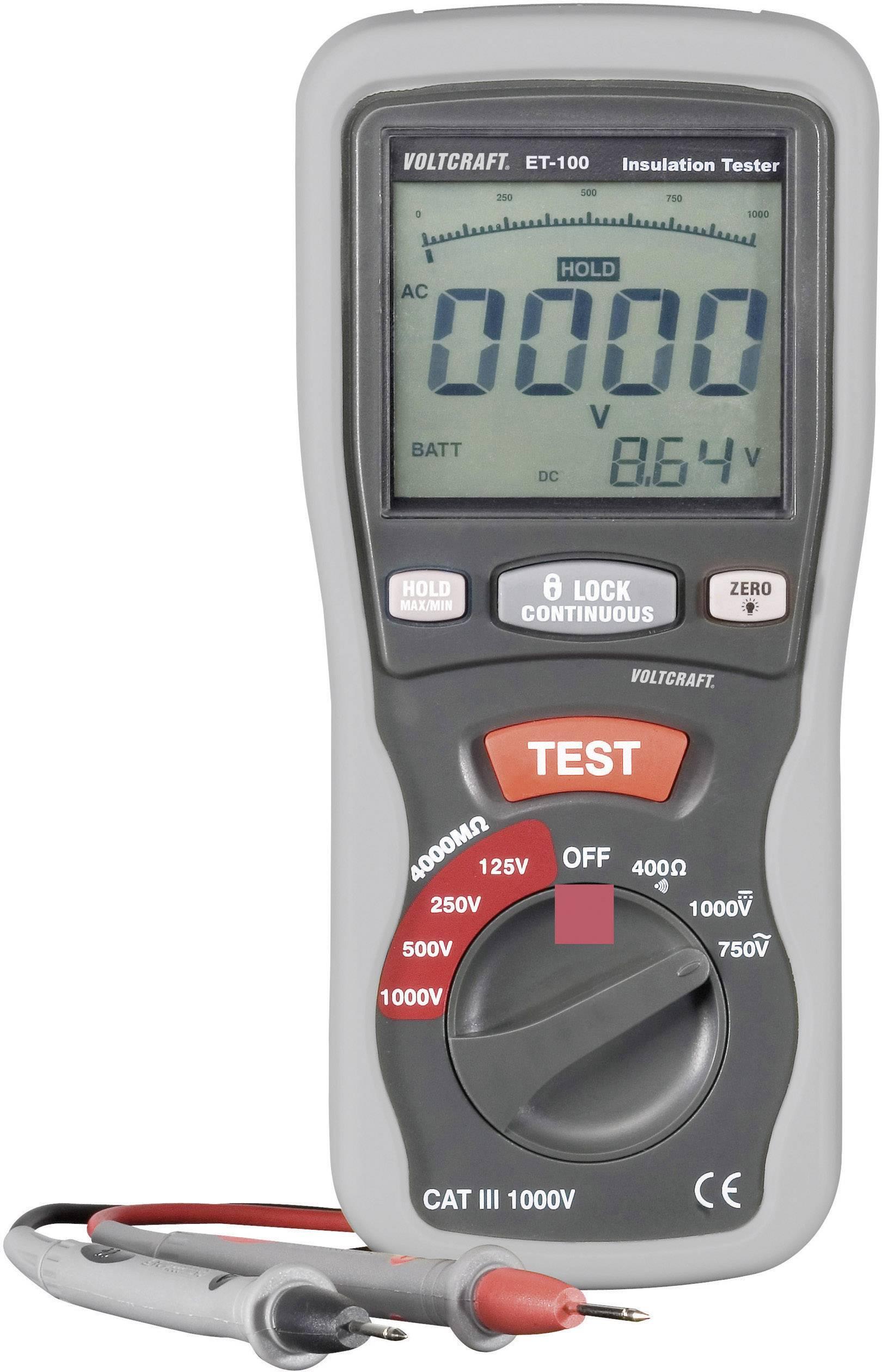 Tester izolací VOLTCRAFT ET-100