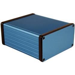 Univerzální pouzdro hliníkové Hammond Electronics, (d x š x v) 120 x 103 x 53 mm, modrá
