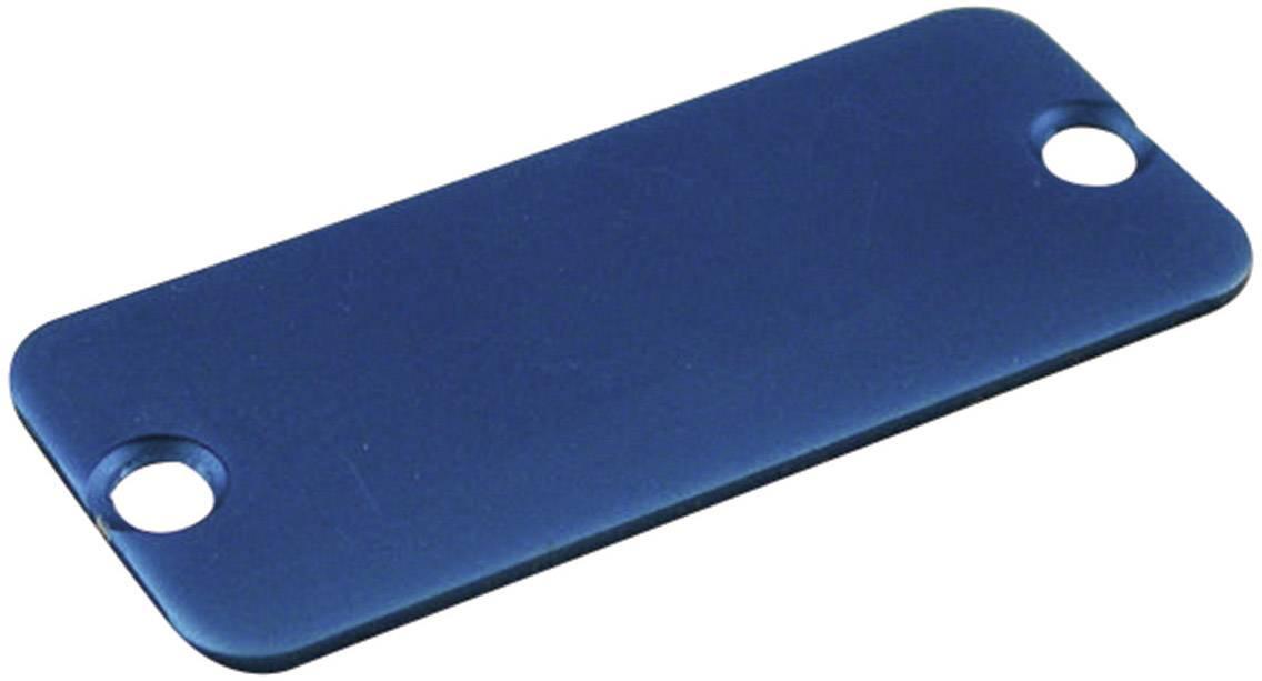 Koncový panel pouzdra Hammond Electronics 1455CALBU-10, modrá