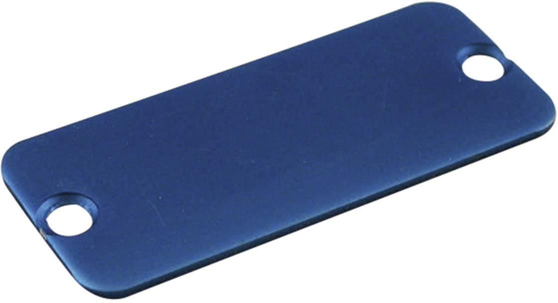 Koncový panel pouzdra Hammond Electronics 1455DALBU-10, modrá